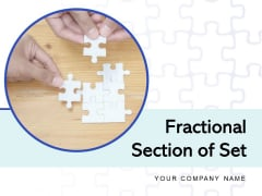 Fractional Section Of Set Donut Chart Project Management Business Ppt PowerPoint Presentation Complete Deck