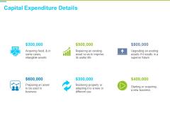 Framework Administration Capital Expenditure Details Ppt Visual Aids Outline PDF