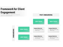 Framework For Client Engagement Ppt PowerPoint Presentation Inspiration Guide