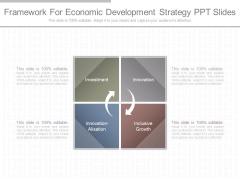 Framework For Economic Development Strategy Ppt Slides