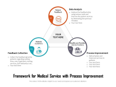 Framework For Medical Service With Process Improvement Ppt PowerPoint Presentation Gallery Icon PDF