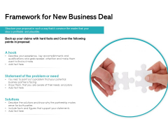 Framework For New Business Deal Ppt PowerPoint Presentation Visual Aids Icon PDF