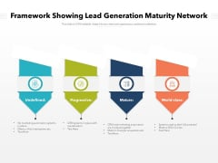 Framework Showing Lead Generation Maturity Network Ppt PowerPoint Presentation File Examples PDF