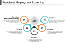 Franchisee Employment Screening Ppt PowerPoint Presentation Show Graphics Pictures Cpb