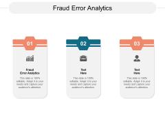 Fraud Error Analytics Ppt PowerPoint Presentation Inspiration Graphics Template Cpb