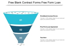 Free Blank Contract Forms Free Form Loan Agreement Ppt PowerPoint Presentation Clipart