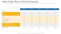 Free Cash Flow Of The Company Ppt File Introduction PDF