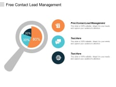 Free Contact Lead Management Ppt Powerpoint Presentation Inspiration Graphic Tips Cpb