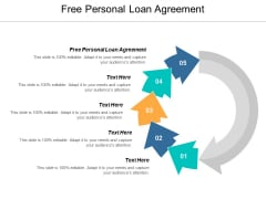 Free Personal Loan Agreement Ppt PowerPoint Presentation Ideas Example Topics Cpb