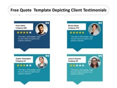Free Quote Template Depicting Client Testimonials Ppt PowerPoint Presentation Gallery Shapes PDF