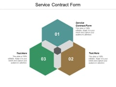 Free Service Contract Form Ppt PowerPoint Presentation Infographic Template Structure