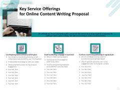 Freelance Writing Key Service Offerings For Online Content Writing Proposal Microsoft PDF