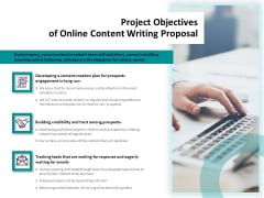 Freelance Writing Project Objectives Of Online Content Writing Proposal Clipart PDF