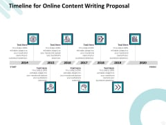 Freelance Writing Timeline For Online Content Writing Proposal Ppt Outline Diagrams PDF
