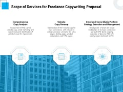 Freelancer RFP Scope Of Services For Freelance Copywriting Proposal Ppt PowerPoint Presentation Visual Aids Gallery PDF