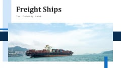 Freight Ships Cargo Icon Ppt PowerPoint Presentation Complete Deck With Slides