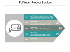 Fulfilment Product Services Ppt PowerPoint Presentation Portfolio Portrait Cpb