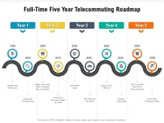 Full Time Five Year Telecommuting Roadmap Infographics