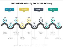 Full Time Telecommuting Four Quarter Roadmap Brochure