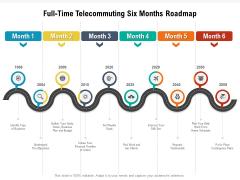Full Time Telecommuting Six Months Roadmap Brochure