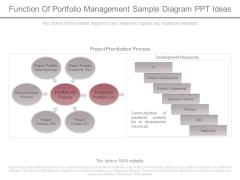 Function Of Portfolio Management Sample Diagram Ppt Ideas