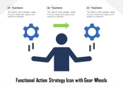 Functional Action Strategy Icon With Gear Wheels Ppt PowerPoint Presentation Outline Designs PDF