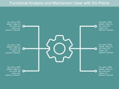 Functional Analysis And Mechanism Gear With Six Points Ppt PowerPoint Presentation File Graphics Download