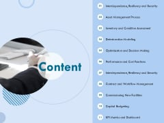 Functional Analysis Of Business Operations Content Ppt Outline Slideshow PDF