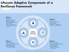 Functional Analysis Of Business Operations Lifecycle Adaptive Components Of A Resilience Framework Slides PDF