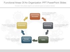 Functional Areas Of An Organization Ppt Powerpoint Slides