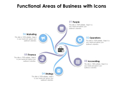 Functional Areas Of Business With Icons Ppt PowerPoint Presentation Portfolio Microsoft