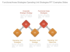 Functional Areas Strategies Operating Unit Strategies Ppt Examples Slides