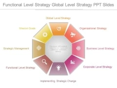 Functional Level Strategy Global Level Strategy Ppt Slides
