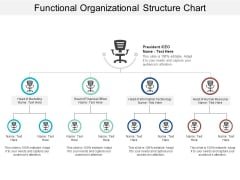 Functional Organizational Structure Chart Ppt PowerPoint Presentation Pictures Diagrams