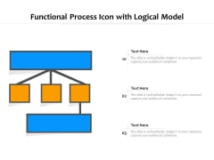 Functional Process Icon With Logical Model Ppt PowerPoint Presentation File Format Ideas PDF