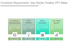 Functional Requirements User Stories Timeline Ppt Slides