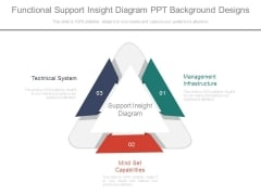 Functional Support Insight Diagram Ppt Background Designs