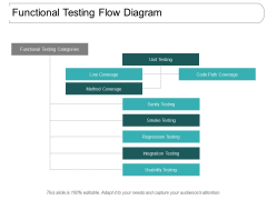 Functional Testing Flow Diagram Ppt PowerPoint Presentation Diagram Templates