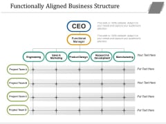 Functionally Aligned Business Structure Ppt PowerPoint Presentation Portfolio Graphics Tutorials