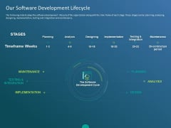 Functioning Of Serverless Computing Our Software Development Lifecycle Ppt Portfolio Example PDF