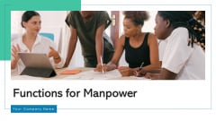 Functions For Manpower Leadership Management Ppt PowerPoint Presentation Complete Deck With Slides