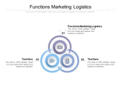 Functions Marketing Logistics Ppt PowerPoint Presentation Outline Brochure Cpb