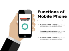 Functions Of Mobile Phone Ppt PowerPoint Presentation Infographics Microsoft