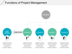 Functions Of Project Management Ppt PowerPoint Presentation Infographic Template Mockup
