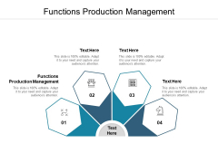 Functions Production Management Ppt PowerPoint Presentation Inspiration Guide Cpb