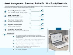 Fund Investment Advisory Statement Asset Management Turnover Ratios FY 19 For Equity Research Introduction PDF