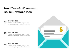 Fund Transfer Document Inside Envelope Icon Ppt PowerPoint Presentation File Graphics PDF