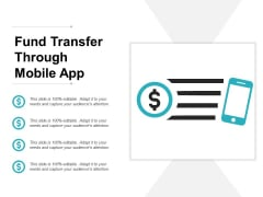 Fund Transfer Through Mobile App Ppt PowerPoint Presentation Show Model