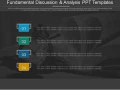 Fundamental Discussion And Analysis Ppt Templates