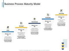 Fundamentals Of Business Organization Business Process Maturity Model Ppt Outline Example Introduction PDF